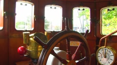Pilothouse apparatus Stock Footage