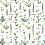 Linear nature icons background. Vector illustration - stock illustration