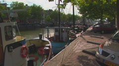 Tugs on Hellinggat canal Stock Footage