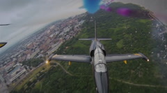 flying aerobatic team GoPro - stock footage
