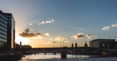 Sunset on the London Bridge, Time-Lapse - stock footage