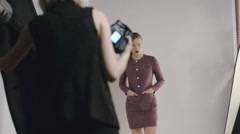 Fashion Photo Shoot Process Stock Footage