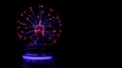 High Power Electric Plasma Lightning Ball Toy Stock Footage