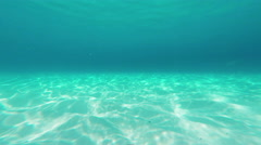 Underwater static scene. Sand bottom with caustic. Thailand. Phuket. - stock footage