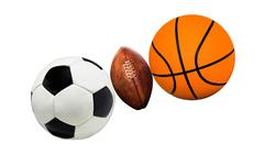 Group of sports balls Stock Photos