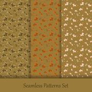Vector seamless patterns set Stock Illustration
