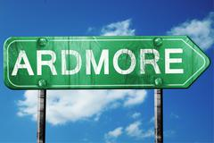 ardmore road sign , worn and damaged look - stock illustration