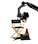 Director seat and movie making equipment - stock photo