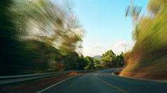 Moving among beautiful nature on High Speed. Asia adventure. - stock footage