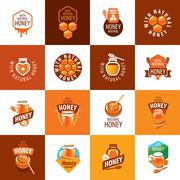 Vector honey logo Stock Illustration
