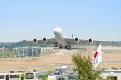 A380 take-off - stock photo