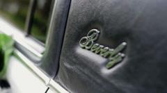 UKRAINE, Kiev : Door of white wedding car beverly Stock Footage