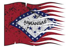 Arkansas State Flag Wavy And Grunged Stock Illustration