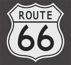 Route 66 White Dot Sign Piirros