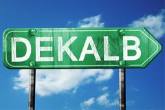 Dekalb road sign , worn and damaged look Stock Illustration