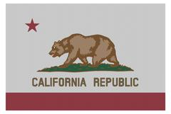 California Flag White Dots - stock illustration