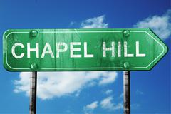 chapel hill road sign , worn and damaged look - stock illustration