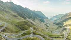 Time lapse video of a small part of Transfagarasan road - stock footage