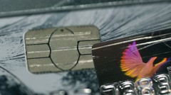 Credit card hologram Stock Footage