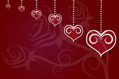 Valentines Day and Heart illustration background Stock Illustration