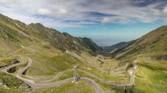 Time lapse video of a small part of Transfagarasan road Stock Footage