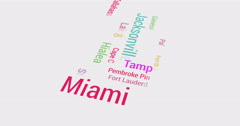 Distributing from Florida to whole of US. Multicolored - stock footage