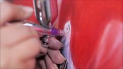aerography technique - stock footage