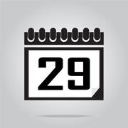 Calendar icon number 29 vector illustration - stock illustration
