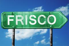 frisco road sign , worn and damaged look - stock illustration