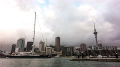 Auckland, New Zealand. City Center  Timelapse Stock Footage