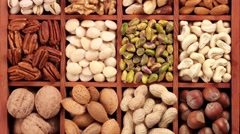 NUTS IN CLOSE UP MACRO TRACKING SHOT OVERHEAD Stock Footage
