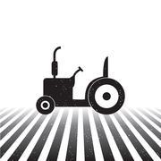 Tractor icon Stock Illustration