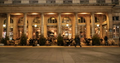 Le Nemours café Paris, Iconic place in Paris Stock Footage