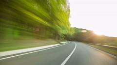Mountain Drive time lapse. Stock Footage