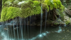 Time lapse of Bigar Waterfall Stock Footage
