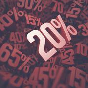 Twenty Percent Discount Stock Illustration