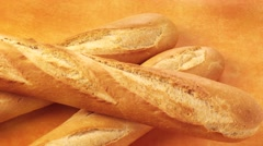FRENCH BREAD  IN CLOSE UP TRACKING SHOT  Stock Footage