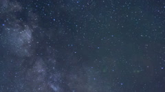 Star Time Lapse, Milky Way Galaxy at Night - stock footage