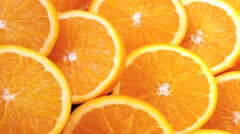 ORANGES  IN CLOSE UP TRACKING SHOT  Stock Footage