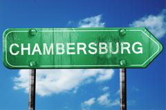 Chambersburg road sign , worn and damaged look Stock Illustration