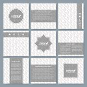 Modern vector templates for square brochure, cover, layout, card or magazine Stock Illustration