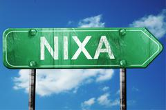 Nixa road sign , worn and damaged look Stock Illustration