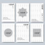 Modern vector templates for brochure, flyer, cover magazine or report in A4 size - stock illustration