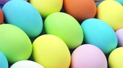 EASTER EGGS IN CLOSE UP TRACKING SHOT OVERHEAD Stock Footage