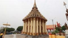 Thai temple, Wat Sangkat Rattana Khiri - Uthai Thani - stock footage