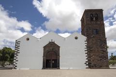 Iglesia de Nuestra Senora de la Candelaria La Oliva Fuerteventura Canary Stock Photos