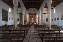 Interior Iglesia de Nuestra Senora de la Candelaria La Oliva Fuerteventura - stock photo