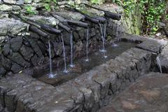 Miraculous healing spring Chorros de Epina La Gomera Canary Islands Spain Europe Stock Photos