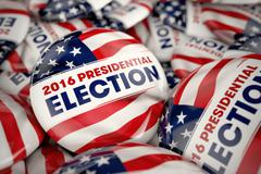 2016 Presidential Election Buttons Stock Illustration