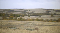Panning shot of nature in the steppe - stock footage
